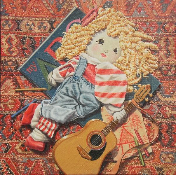 'Nursery Floor' oil on canvas 46 x 46 cms - 2011