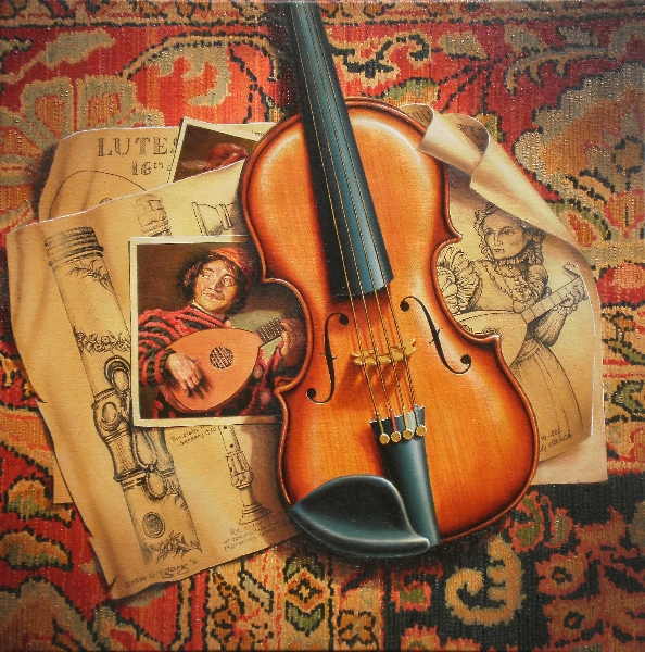 'lutes-flutes-and-violins' -oil-on-canvas-46-x-46cms-2011