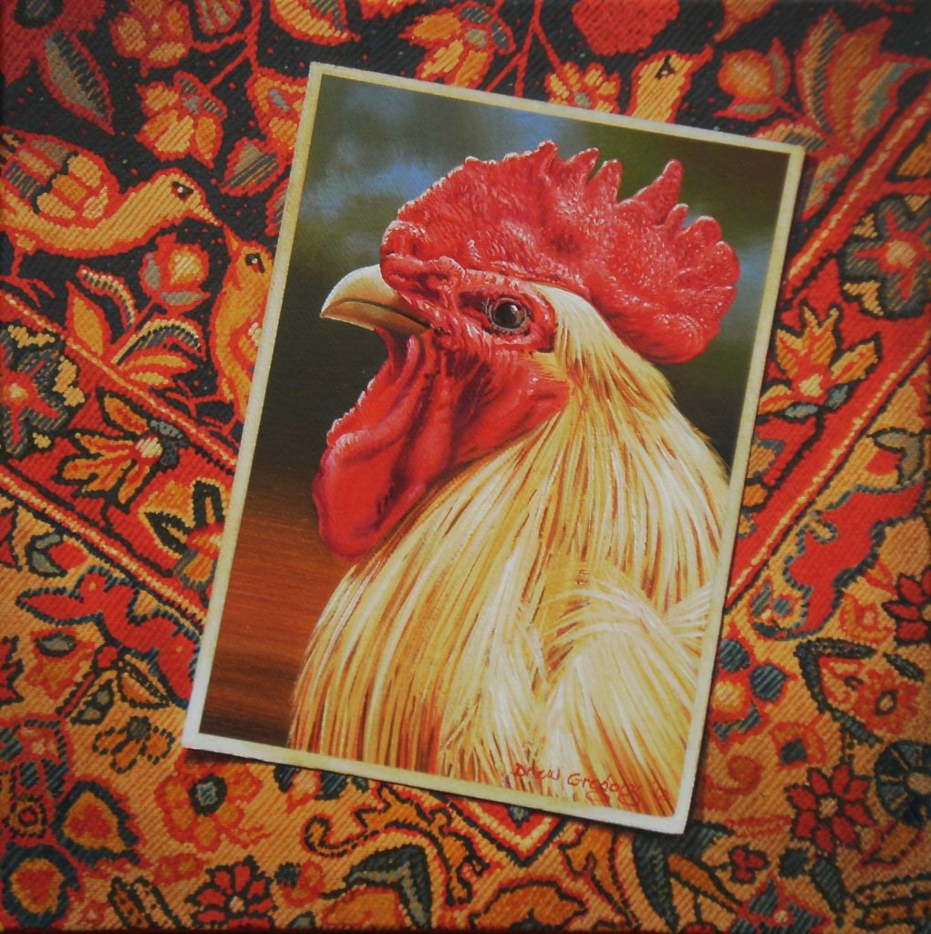 'Fowl Piece' Oil on canvas 30 x 30 cms 2012