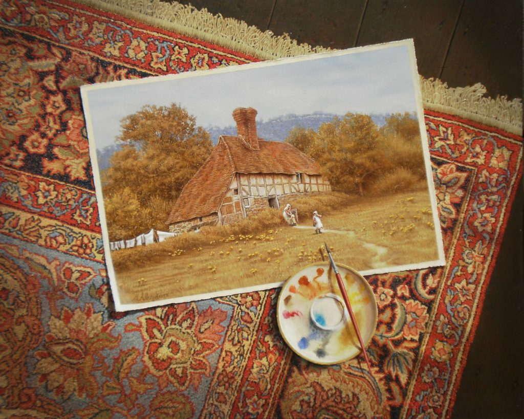 'Helen Allingham's Studio Floor' (circa 1870) Oil on canvas 56x69 cms 2011