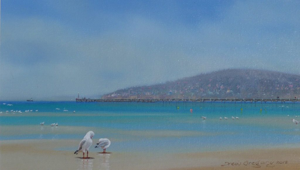 'Seagulls Preening'