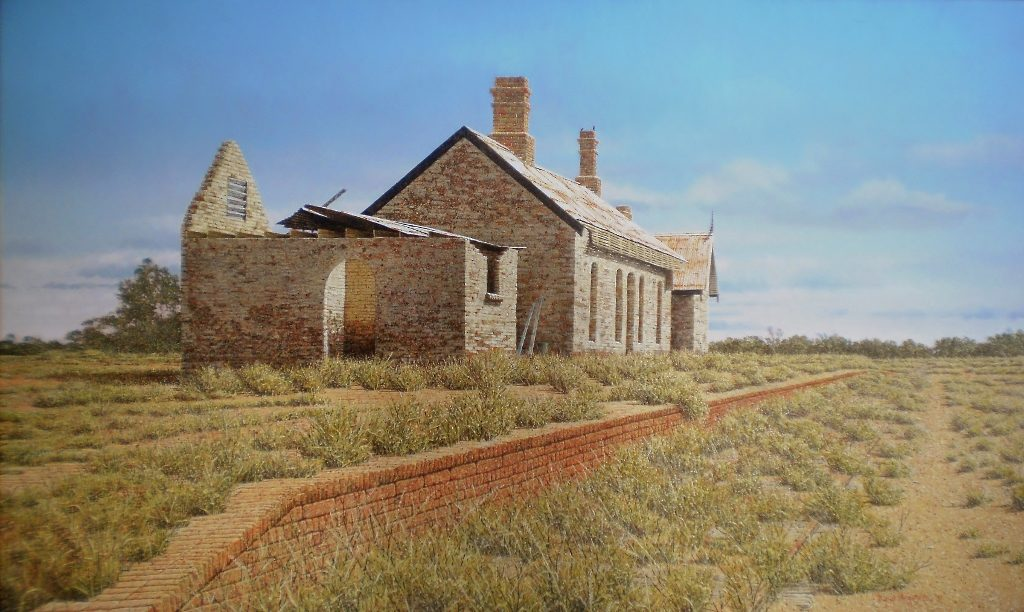 'Giralambone Railway Station.' Oil on canvas. 76 x 127cms - 2010