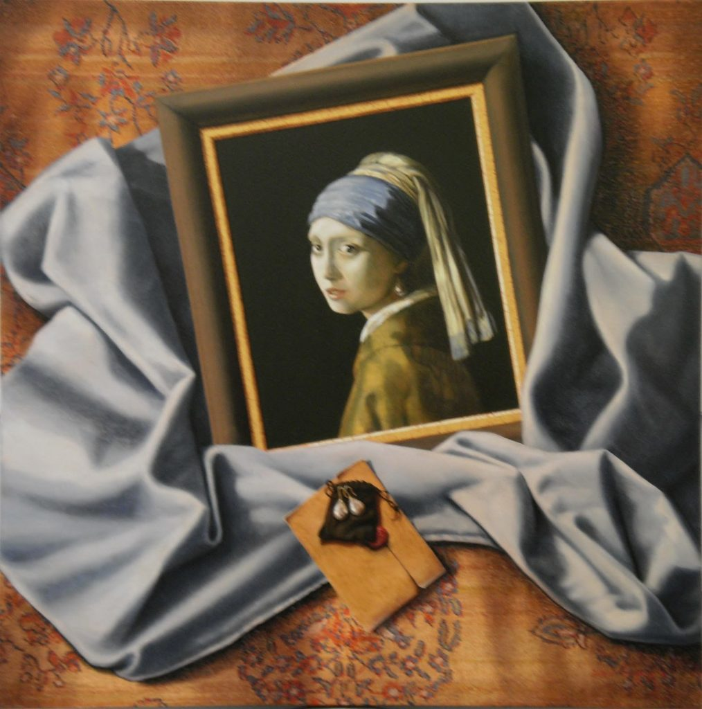 'The Gift' Oil on canvas. 76 x 76 cms. 2011